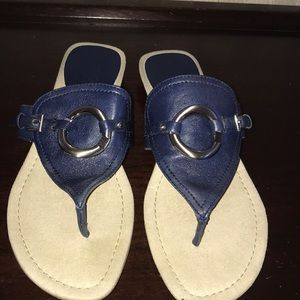 Navy flip flop sandals